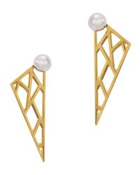 Joomi Lim | Metallic Vertigo Geometric 16Kt Gold-Dipped Earrings | Lyst
