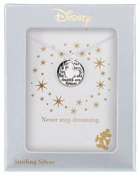 Disney - Metallic Mickey Mouse Inspirational Pendant Necklace In Sterling Silver - Lyst