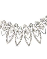 John Lewis | Metallic Petal Shape Fan Necklace | Lyst