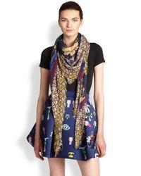 Mary Katrantzou - Multicolor Jeweled Garden Modal Cashmere Scarf - Lyst