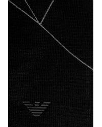 Emporio Armani - Black Cotton Beanie for Men - Lyst