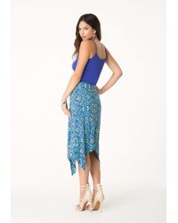 Bebe | Blue Logo Handkerchief Dress | Lyst