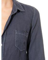 3de0f5213c Lyst - Frank   Eileen Murphy Linen Shirtdress in Blue