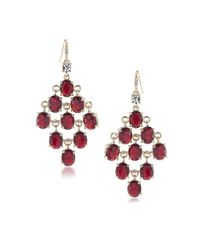 Carolee | Red Russian Tea Room Chandelier Earrings | Lyst