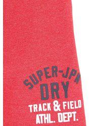 Superdry | Red Cotton Blend Jogging Shorts for Men | Lyst
