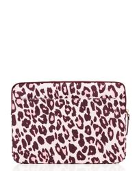 kate spade new york | Pink Cheetah Laptop Zip Sleeve | Lyst