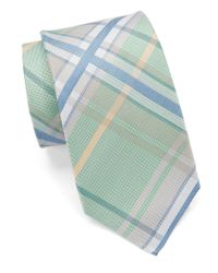 Vince Camuto | Green Marta Plaid Silk Tie for Men | Lyst