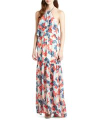 BCBGeneration - Blue Printed Maxi Dress - Lyst