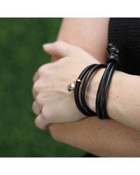 Mizuki - Black Diamond Star Wrap Bracelet - Lyst