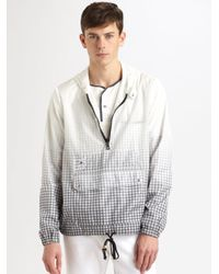 Band of Outsiders | White Nylon Windbreaker for Men | Lyst