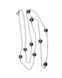 Black.co.uk | Ophelia Tahitian Black Pearl Infinity Necklace Description Delivery & Returns Reviews | Lyst