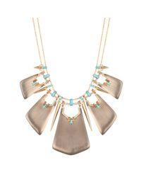 Alexis Bittar | Gray Phoenix Deco Spiked Bib Necklace | Lyst