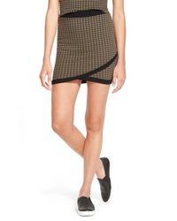 Lush | Green Check Knit Miniskirt | Lyst