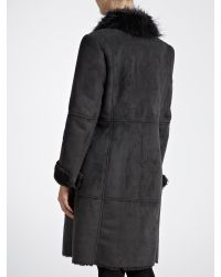 Sandwich - Black Faux Long Shearling Coat - Lyst