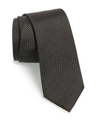 Calibrate | Black 'madagascar' Silk Tie for Men | Lyst