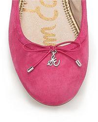 Sam Edelman | Pink Felicia Suede Flats | Lyst