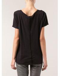 Lacausa - Black Contrast Neck T-Sshirt - Lyst