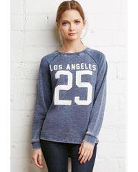 Forever 21 | Blue La Graphic Heathered Sweatshirt | Lyst