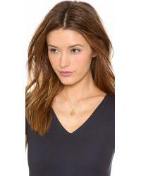 kate spade new york - Metallic Letter Pendant Necklace - B - Lyst