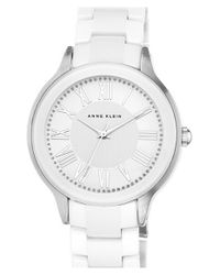 Anne Klein | White Ceramic Bracelet Watch | Lyst
