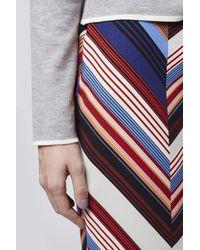 TOPSHOP - Multicolor Deckchair Split Midi Skirt - Lyst