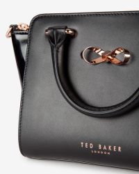 Ted Baker - Black Mini Patent Leather Tote Bag - Lyst
