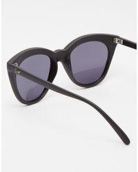 Quay | Black Isabell Cat Eye Sunglasses | Lyst