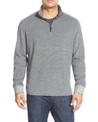 Robert Graham | Gray 'comstock' Quarter Zip Pullover Sweater for Men | Lyst