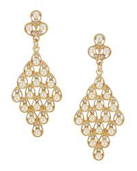 Cara | Metallic Faux Pearl Chandelier Earrings | Lyst