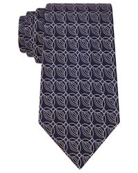 Sean John | Blue Connecting Circles Neat Tie for Men | Lyst