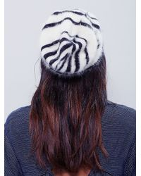 Free People | Black Printed Grizzly Beanie | Lyst