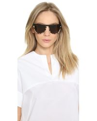 Stella McCartney - Flat Top Oversized Sunglasses - Top Black/Grey Spotty Tortoise - Lyst
