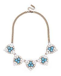 BaubleBar - Blue Crystal Holly Necklace - Lyst