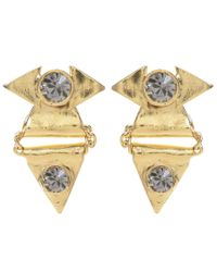 Jill Golden | Yellow Crystal Reflection Triangle Earring | Lyst