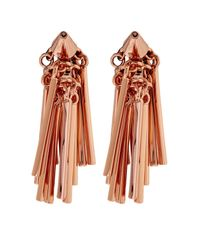 Eddie Borgo - Pink Fringe Rose-Gold Plated Earrings - Lyst