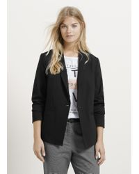 Violeta by Mango - Black Slit Cotton Blazer - Lyst