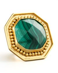 Stephanie Kantis - Metallic Malachite Ring - Lyst