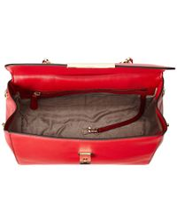 MICHAEL Michael Kors | Red Marlow Medium Satchel | Lyst