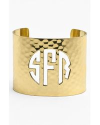 Rustic Cuff | Metallic Wide Personalized Monogram Cuff | Lyst