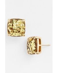 Kate Spade | Metallic Glitter Stud Earrings | Lyst