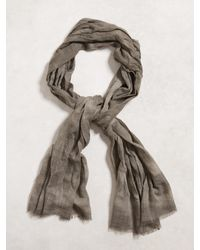 John Varvatos | Green Tie Dye Micro Plaid Scarf for Men | Lyst