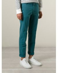 KENZO | Blue 'eye' Straight Leg Trousers for Men | Lyst