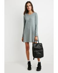 Forever 21 - Blue Boxy Heathered T-shirt Dress - Lyst