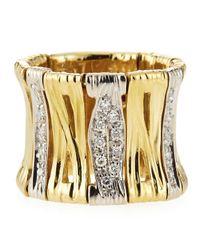 Roberto Coin - Metallic Elephantina Flexible Diamond Ring Size 55 - Lyst
