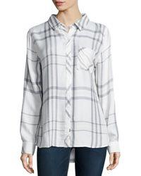 Rails - White Hunter Plaid Poplin Shirt - Lyst