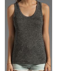Rag & Bone | Gray Nicole Split-back Stretch-jersey Tank | Lyst