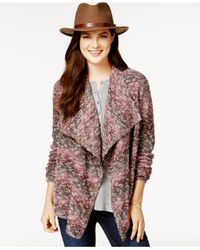 G.H. Bass & Co. | Purple Draped Open-front Cardigan | Lyst
