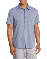 Travis Mathew | Blue 'critchfield' Trim Fit Short Sleeve Sport Shirt for Men | Lyst