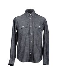 Woolrich | Gray Long Sleeve Shirt for Men | Lyst