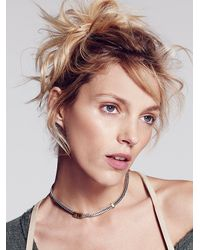 Free People | Metallic Flat Chain Necklace | Lyst